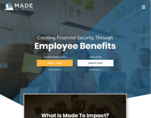 After screenshot of Made to Impact's website.