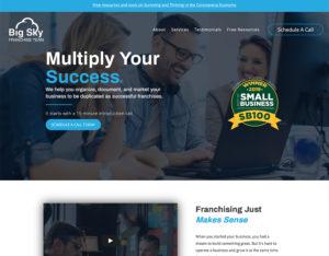 After screenshot of Big Sky Franchise Team's website