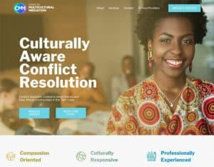 After screenshot of Center for Multicultural Mediation's website.
