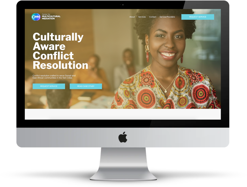 Center for Multicultural Mediation Minneapolis Website Redesign