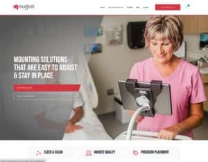 After screenshot of Moffatt Product's homepage.