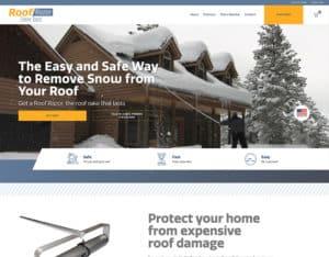 After screenshot of Roof Razor's website.
