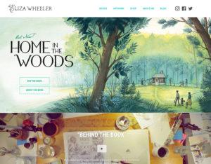 Screenshot of Eliza Wheeler's website homepage.